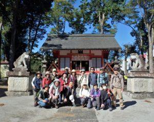 諏訪八幡神社:本日参加16人