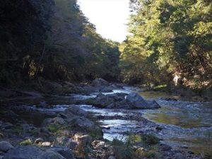 吾妻峡:ここも紅葉の名所です(11月下旬)